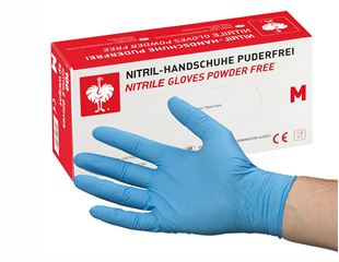 Disposable nitrile gloves, powder-free