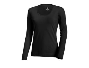 e.s. Long sleeve cotton stretch, ladies'