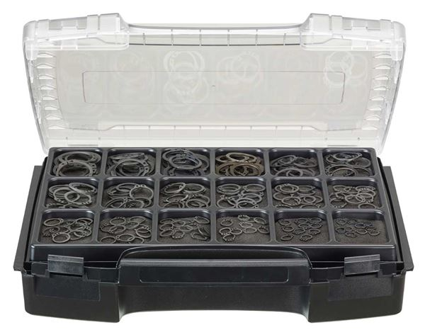 Locking rings, DIN 471, 180 pieces