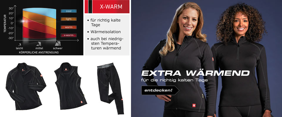 e.s. Funktions-Troyer thermo stretch,x-warm,Damen