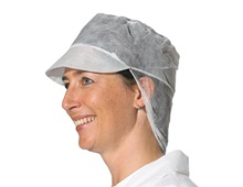 Peak cap with hair protection