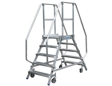 KRAUSE mobile platf. ladder,walkable on both sides