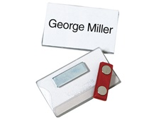 DURABLE Name Badges, Magnetic Clip