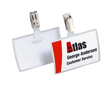 DURABLE Business Card Click Fold, Clip attachment