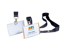 DURABLE Business Cards Clip Fold, Textile ribbon