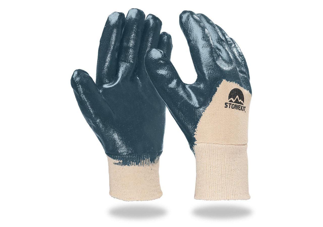Beschichtet: Nitril-Handschuhe Lith, Strickbund