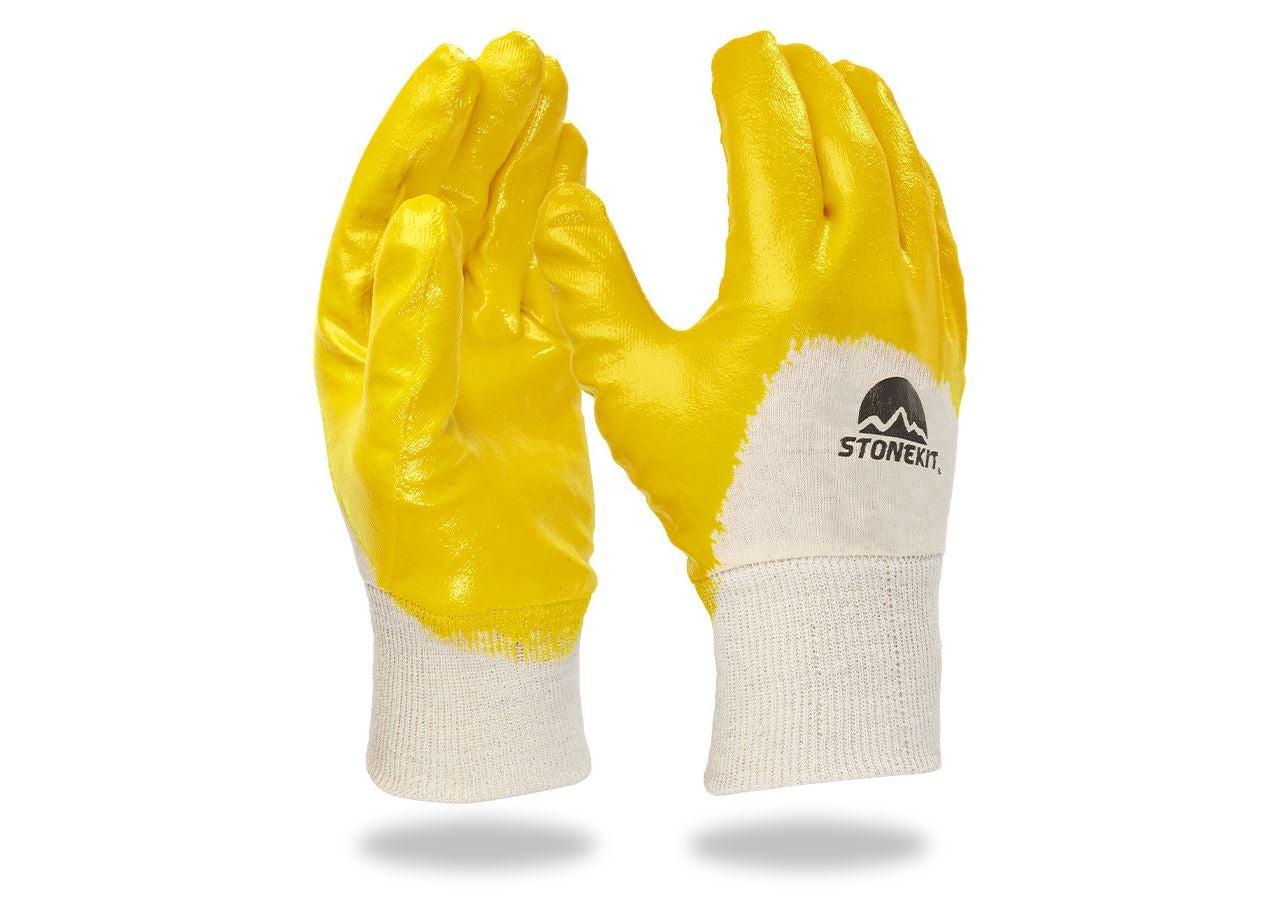 Beschichtet: Latex-Handschuhe, Strickbund, 12er Pack