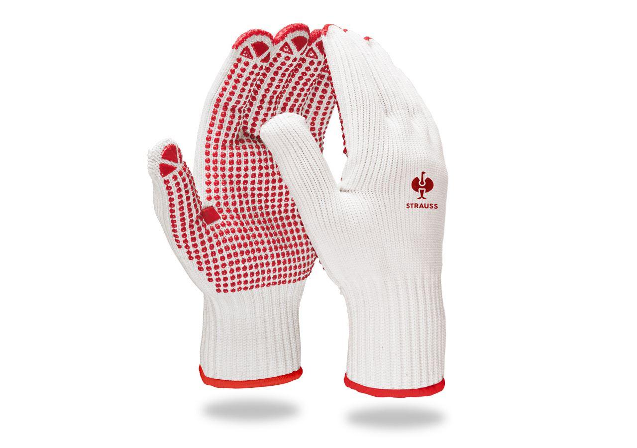 Beschichtet: PVC-Strickhandschuhe Red-Point + weiß