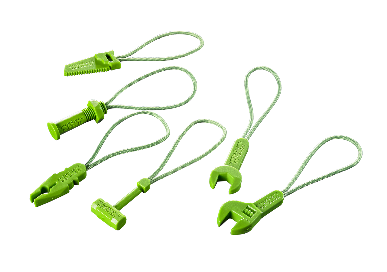 Accessories: Zip puller set e.s.motion 2020 + seagreen
