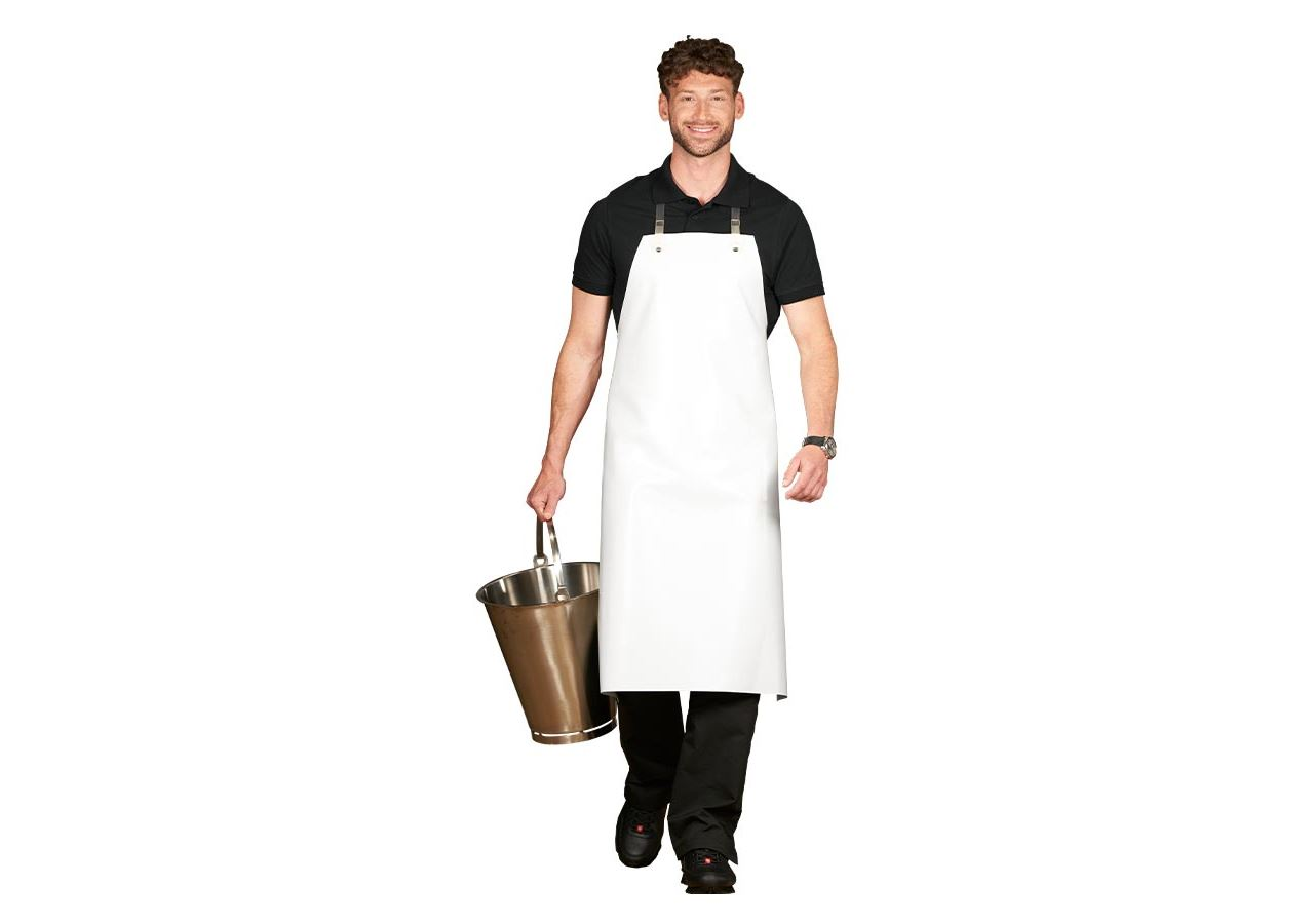 Aprons: Rubber Grease Apron + white