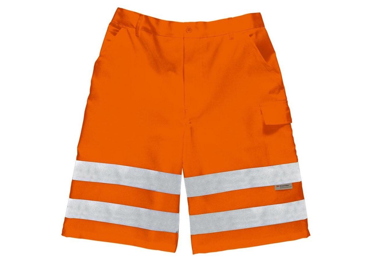 Work Trousers: High-vis shorts + high-vis orange