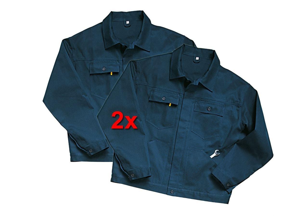 Vestes de travail: Veste professionnelle Basic, lot de 2 + bleu foncé