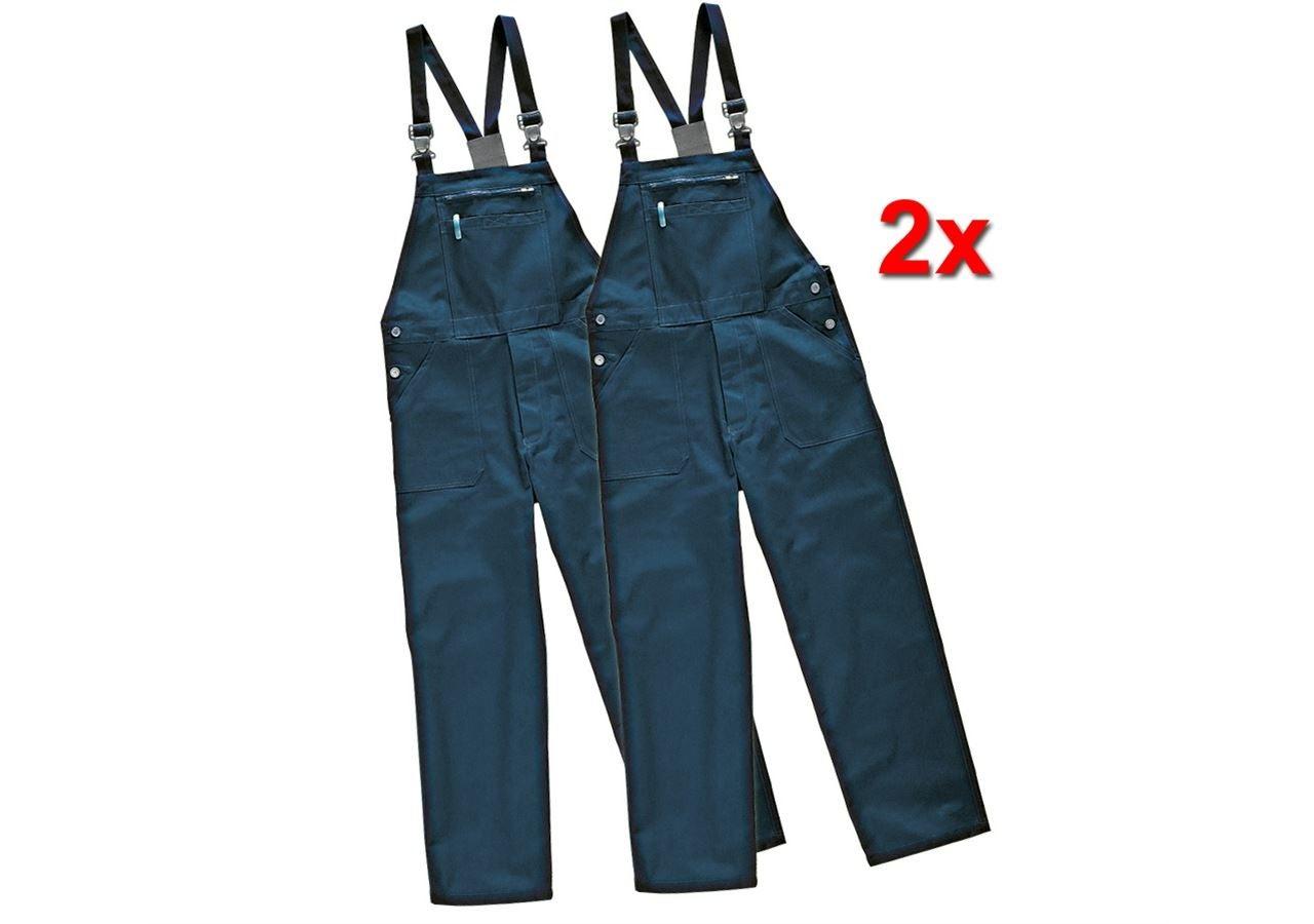 Pantalons de travail: Salopette Basic, lot de 2 + bleu foncé