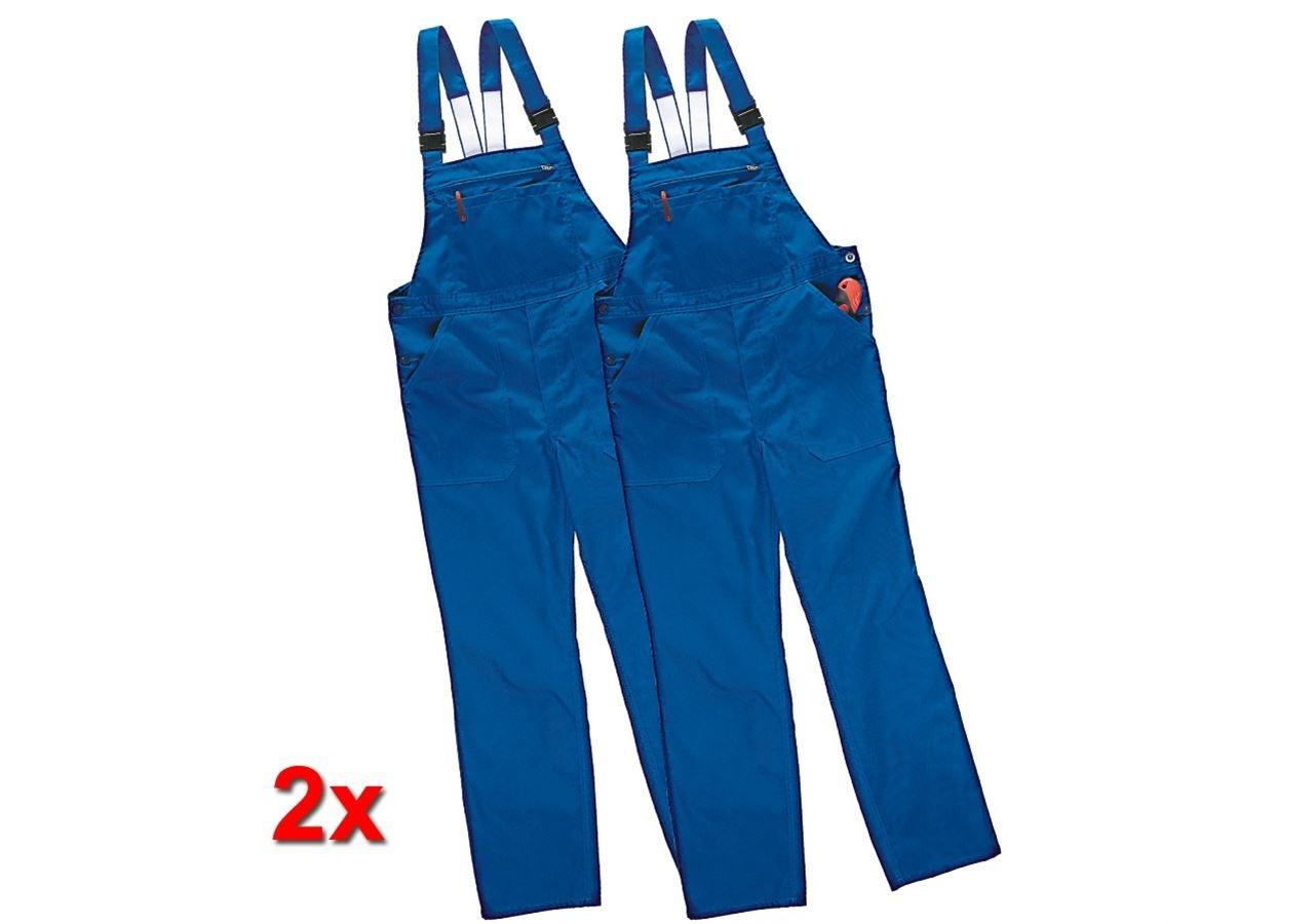 Pantalons de travail: Salopette Economy, lot de 2 + bleu royal