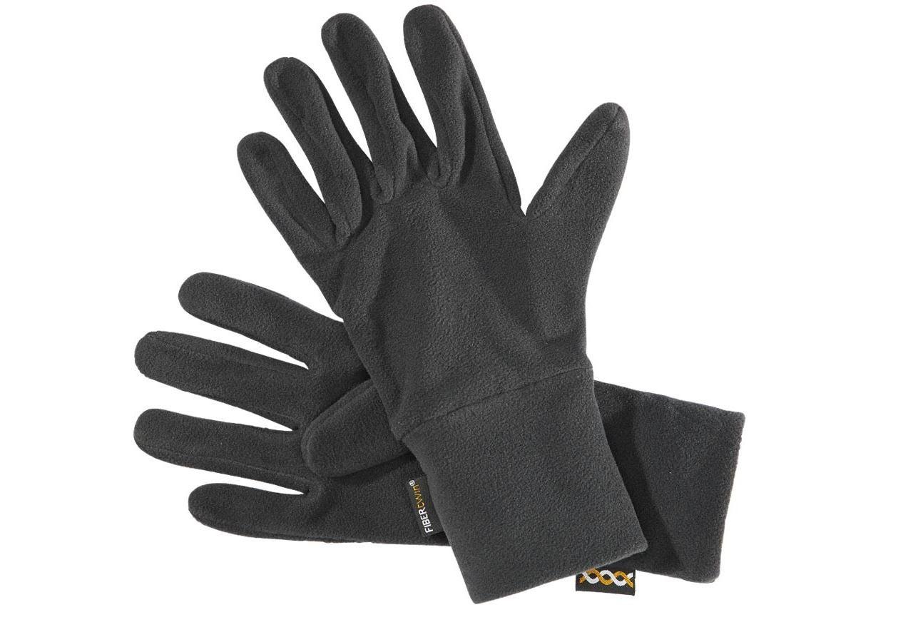 Accessoires: e.s. FIBERTWIN® microfleece Handschuhe + schwarz