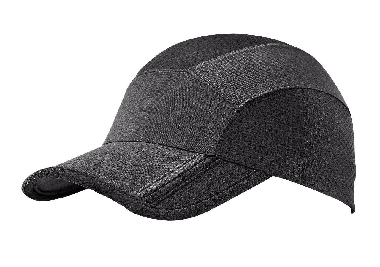 Accessories: e.s. Functional cap comfort fit + black/black-melange