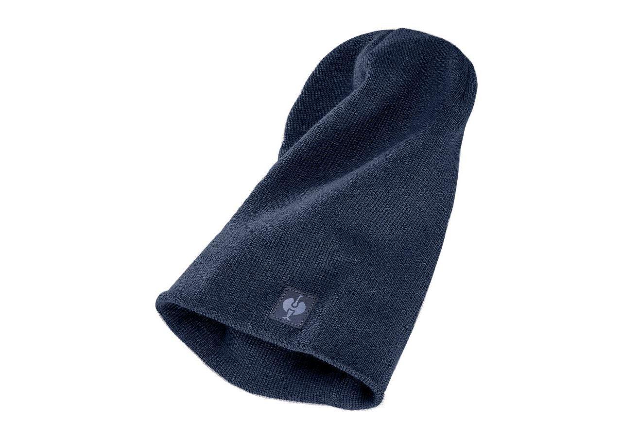 Accessories: Knitted cap e.s.motion ten,  children's + slateblue