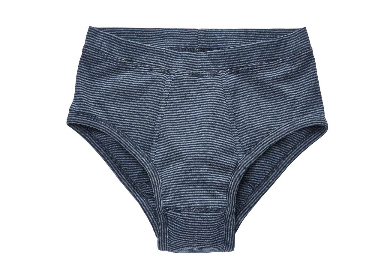 Underwear | Functional Underwear: e.s. Slip fine rib classic, pack of 2 + navy striped
