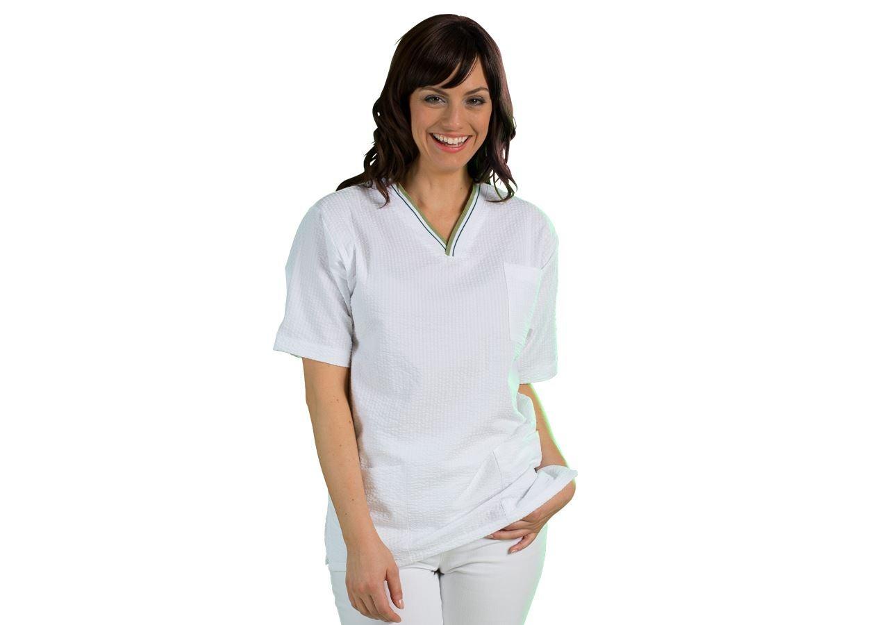 Shirts, Pullover & more: Tunic Elvira + white/olivegreen
