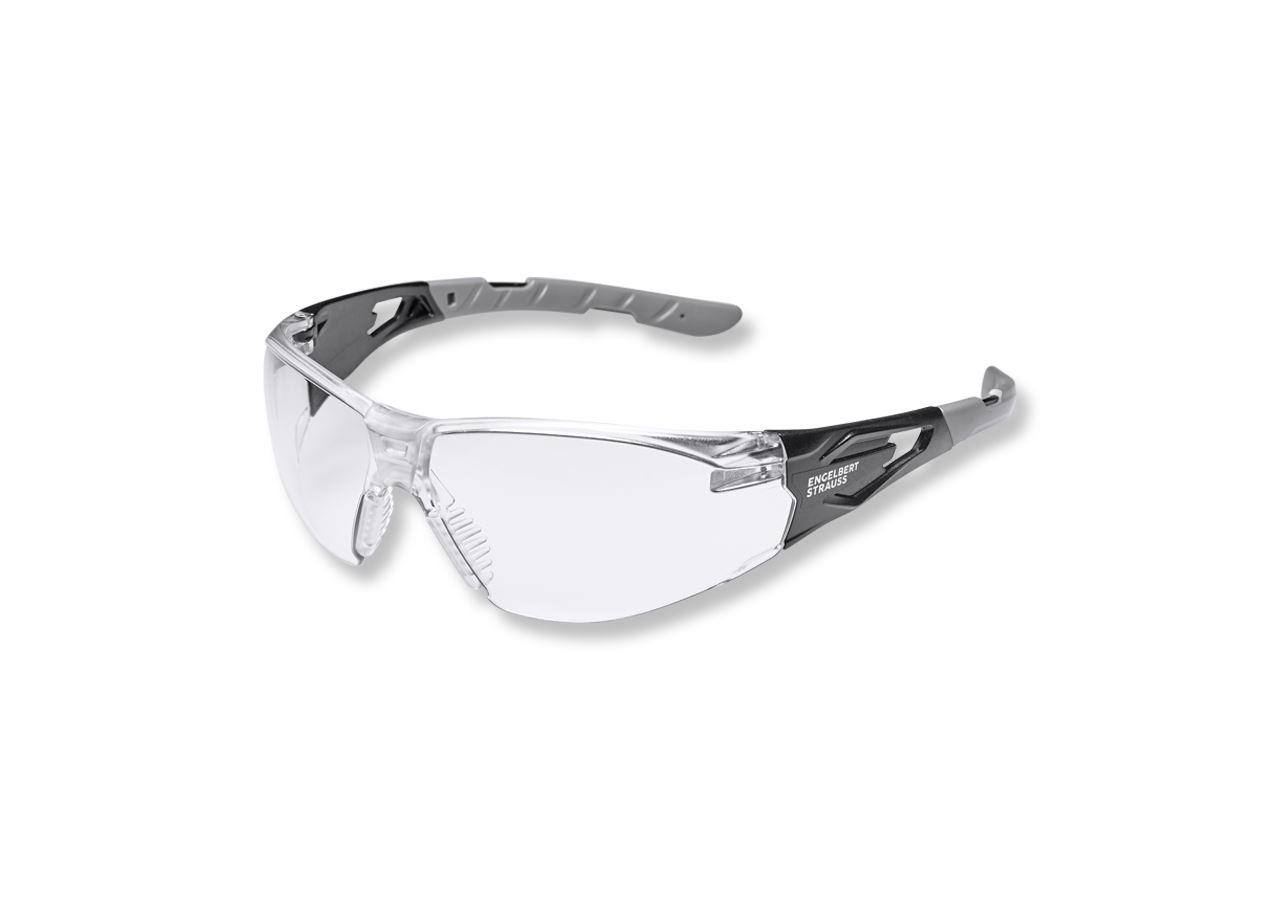 Safety Glasses: e.s. Ladies' safety glasses Wise + clear-transparent/black
