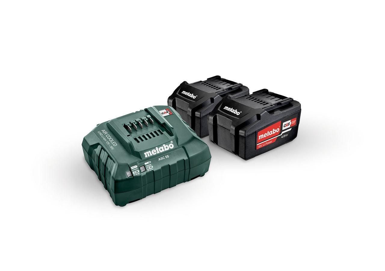 Outils électriques: Metabo Pack batterie 2x 4,0 batt. ions lith.+char