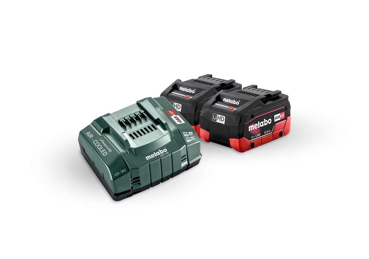 Outils électriques: Metabo Pack batterie 2x batt. 5,5 LiHD + charg.ult