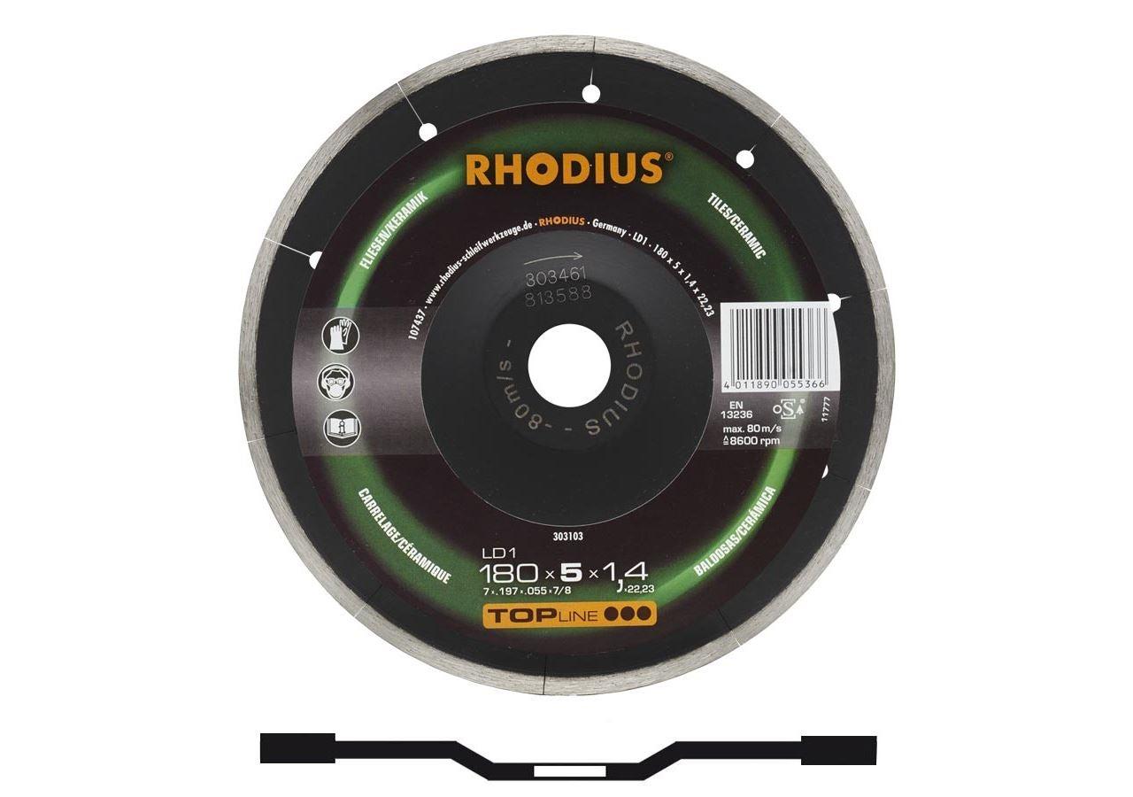 Disques de coupe: Disque diamant Rhodius p. le travail de la pierre
