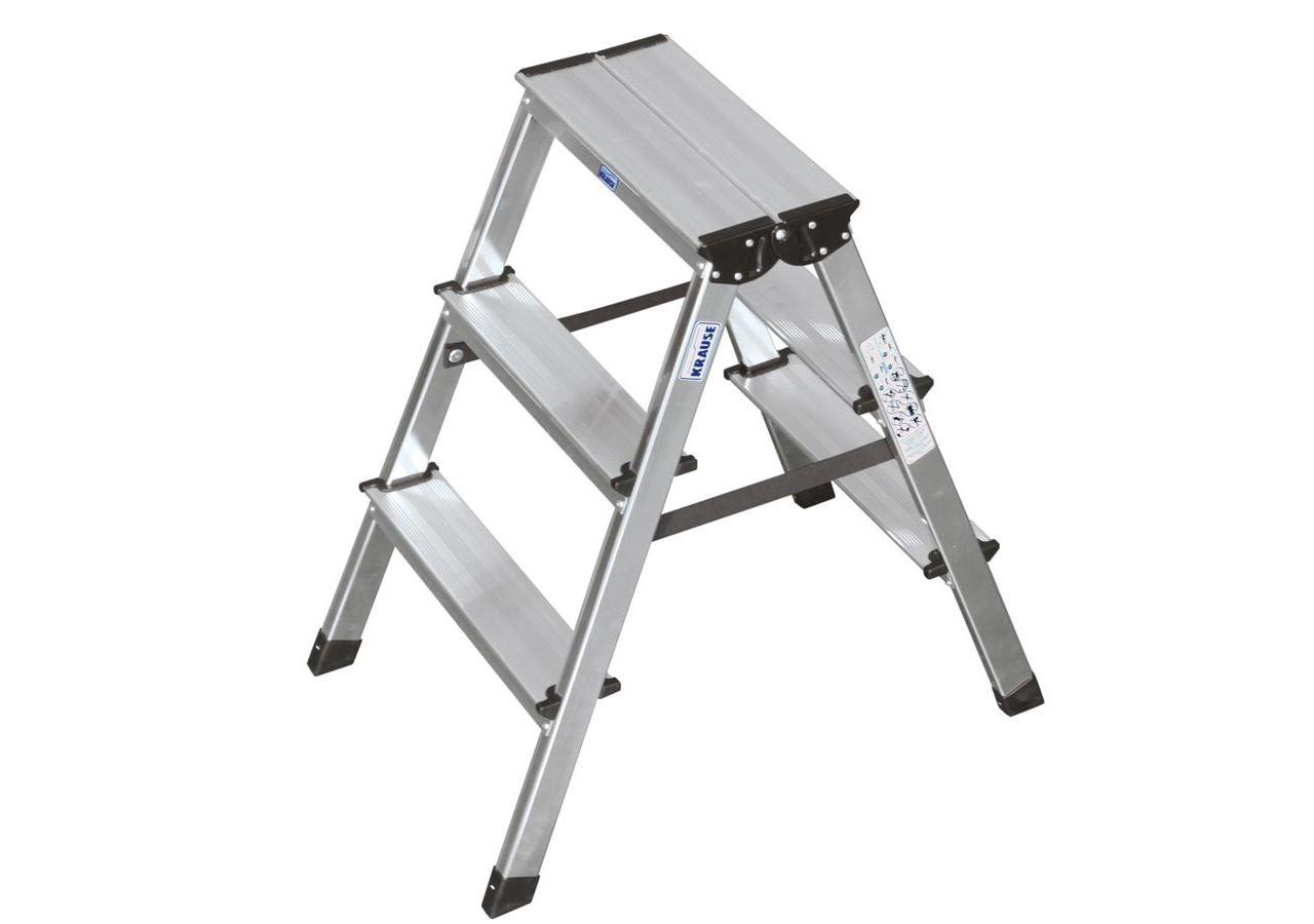 Leitern: KRAUSE Stufen-Doppelleiter (Aluminium)
