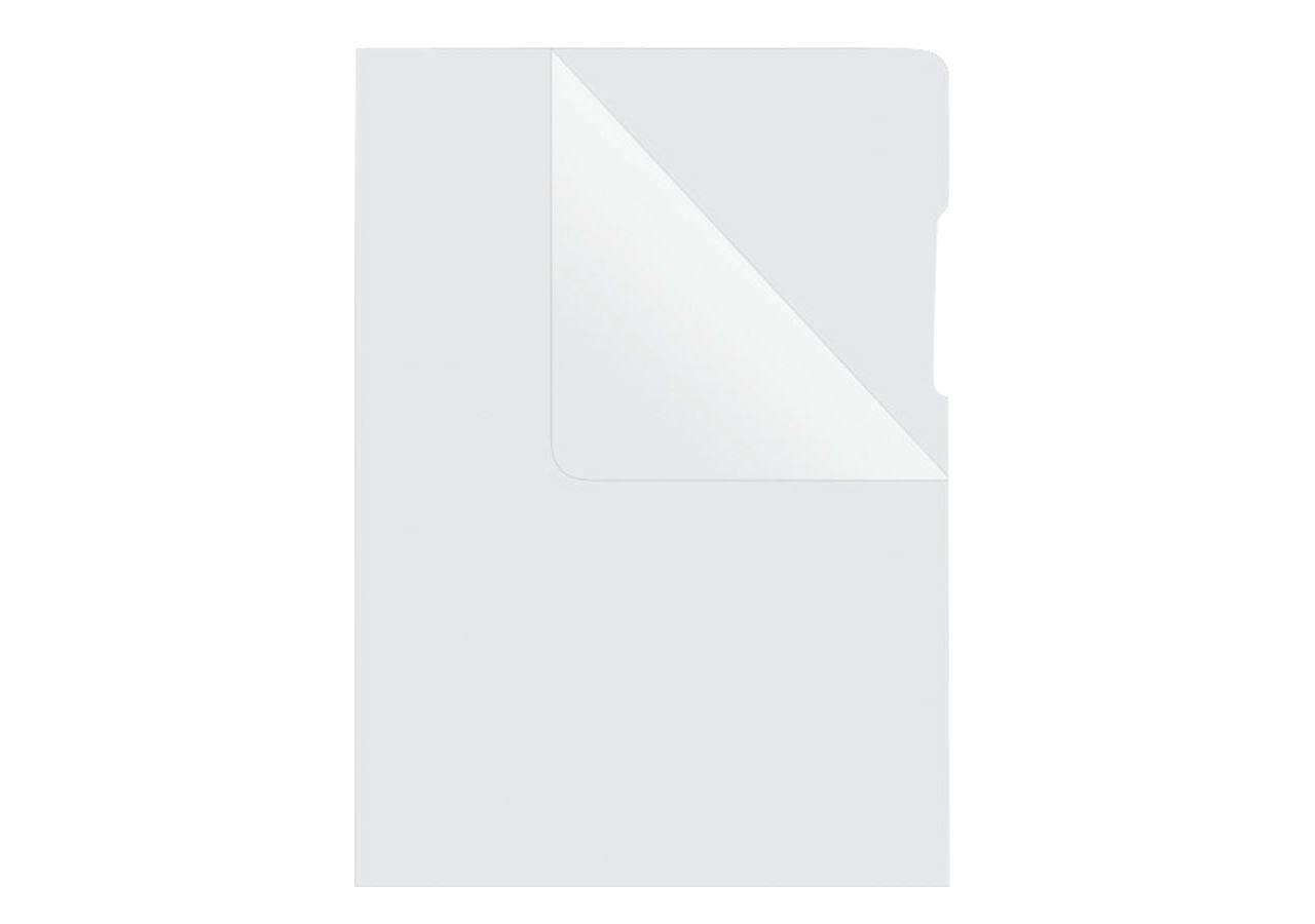 Organisation: Pochettes transparentes + transparent