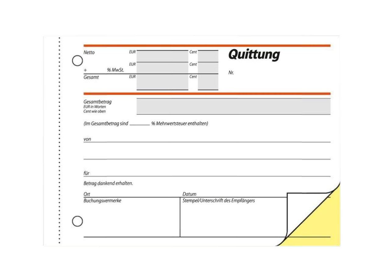 Papierprodukte: Sigel Formularbücher Quittung