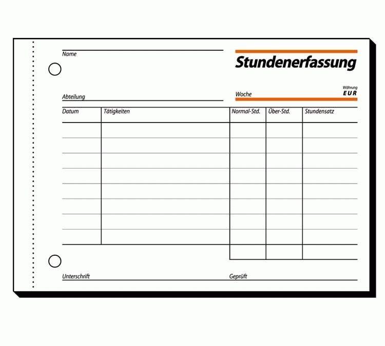 Papierprodukte: Sigel Formularbücher Stundenerfassung