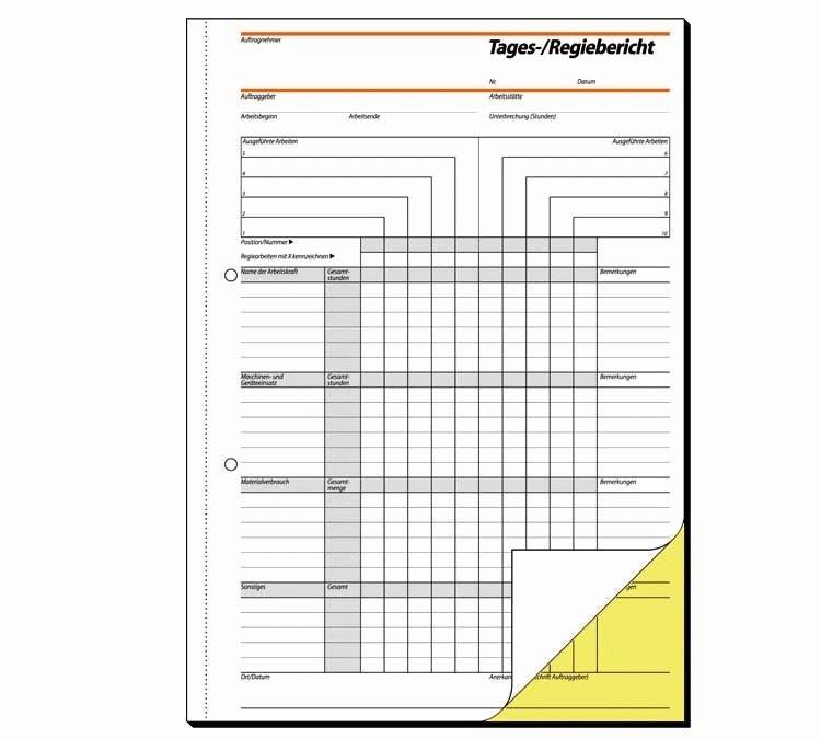 Papierprodukte: Sigel Formularbücher Tages-/Regiebericht