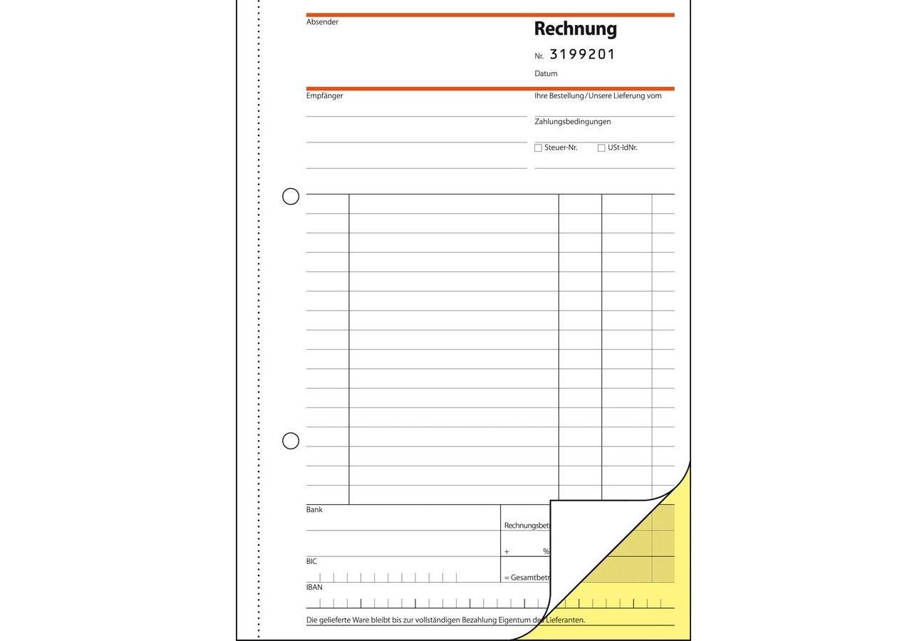 Papierprodukte: Sigel Formularbücher Rechnung mit fortl. Nummer