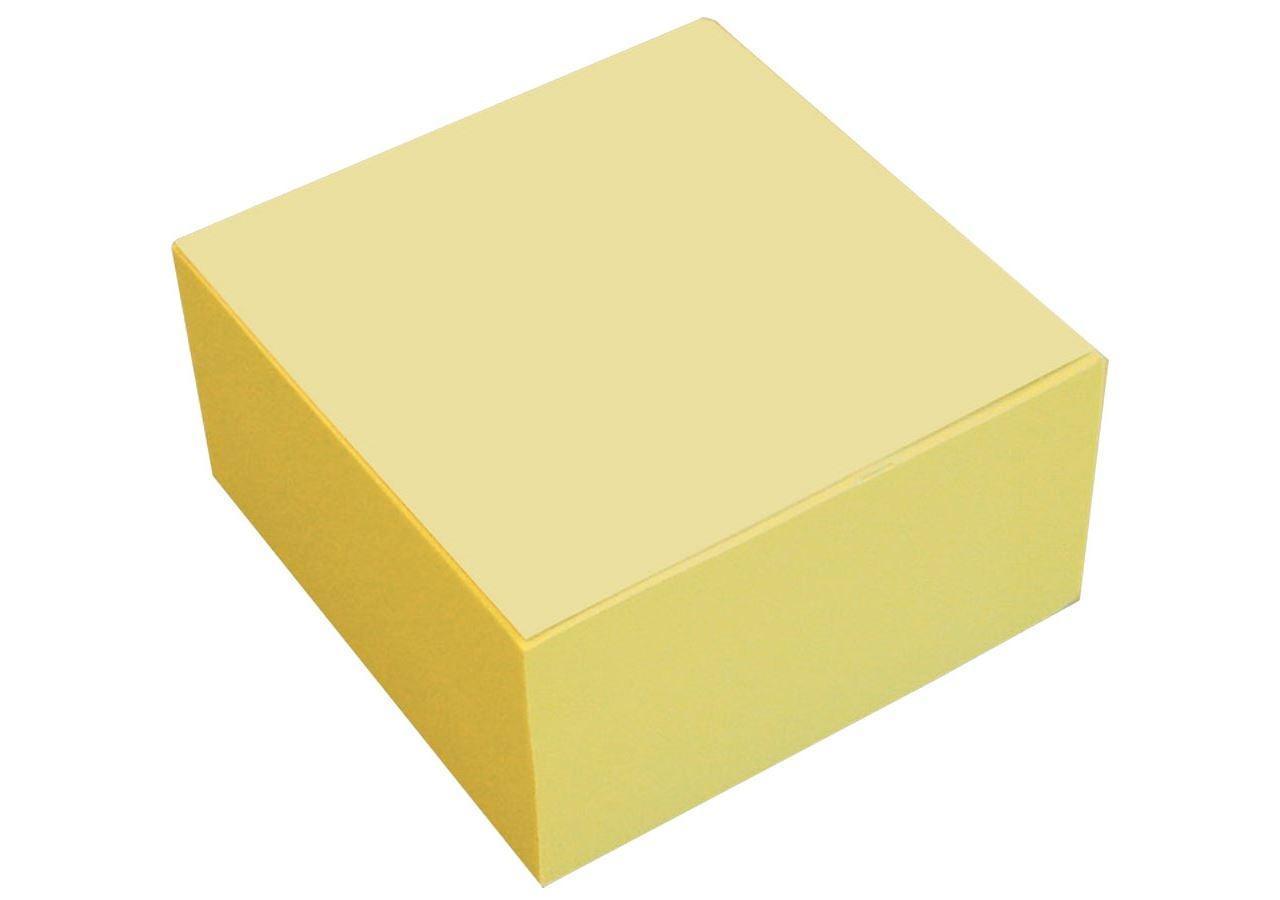 Papierprodukte: Haftnotiz- Würfel + gelb
