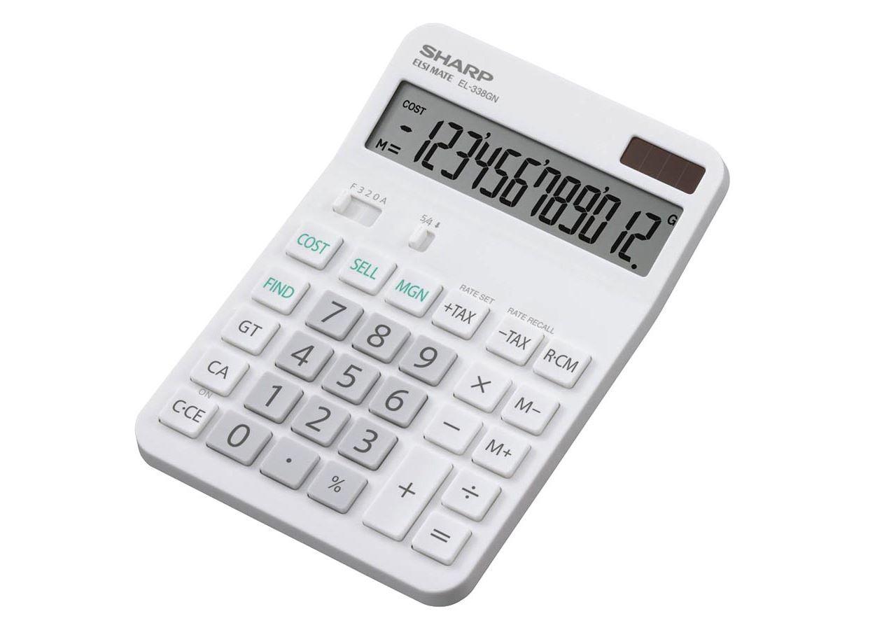 Office equipment: Desktop calculator  Sharp EL-338 GN