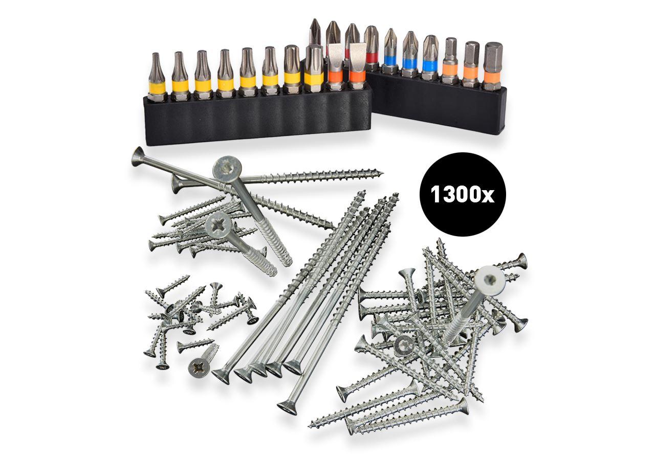 "Tools & Equipment: Test set""3-4""universal screw Plus countersunk,gal."