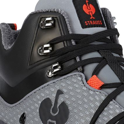 O2: O2 Work shoes e.s. Kobuk mid + anthracite/solarred 2