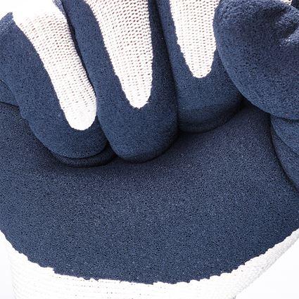 Beschichtet: e.s. Latexschaum-Handschuhe recycled, 3 Paar + blau/weiß 2