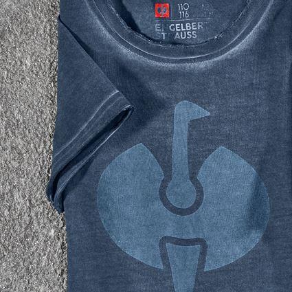 Shirts & Co.: T-Shirt e.s.motion ten ostrich, Kinder + schieferblau vintage 2