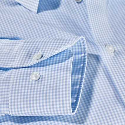 Shirts, Pullover & more: e.s. Business shirt cotton stretch, comfort fit + frostblue checked 2
