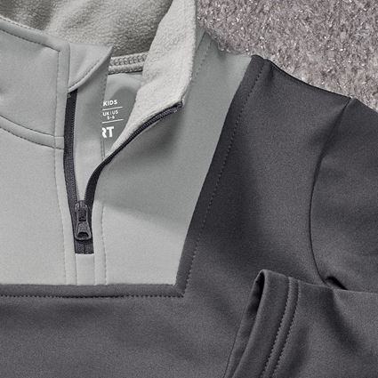 Shirts & Co.: Funkt.-Troyer thermo stretch e.s.concrete, Kinder + anthrazit/perlgrau 2