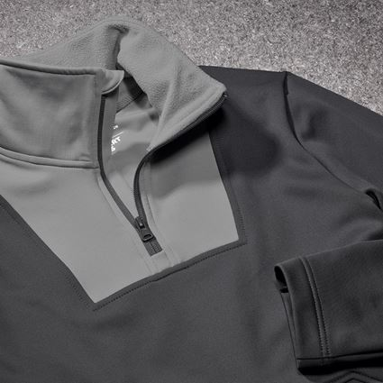 Shirts & Co.: Funktions-Troyer thermo stretch e.s.concrete + anthrazit/perlgrau 2