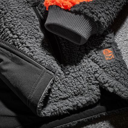 Vestes de travail: e.s. Veste polaire de forestier + orange fluo/gris carbone 2