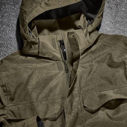 Work Jackets: Rain jacket e.s.concrete + mudgreen 2