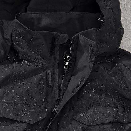Work Jackets: Rain jacket e.s.concrete, ladies' + black 2