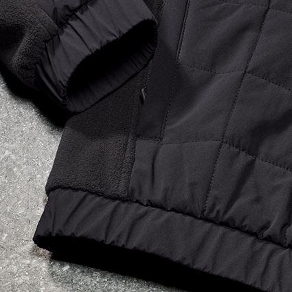 Vestes de travail: Veste en laine polaire hybride e.s.concrete + noir 2