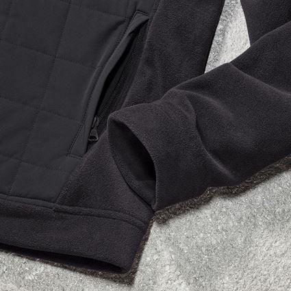Jacken: Hybrid Kapuzenfleecejacke e.s.concrete + schwarz 2