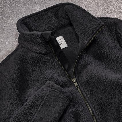 Work Jackets: Faux fur jacket e.s.vintage, ladies' + black 2