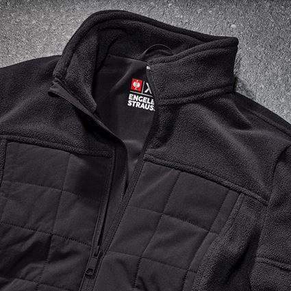 Work Jackets: Hybrid fleece jacket e.s.concrete, ladies' + black 2