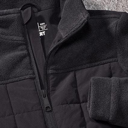 Jackets: Hybrid fleece jacket e.s.concrete, children's + black 2